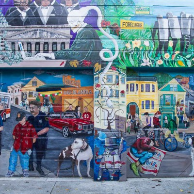 Mission District, San Francisco. I murales di Balmy Alley.
