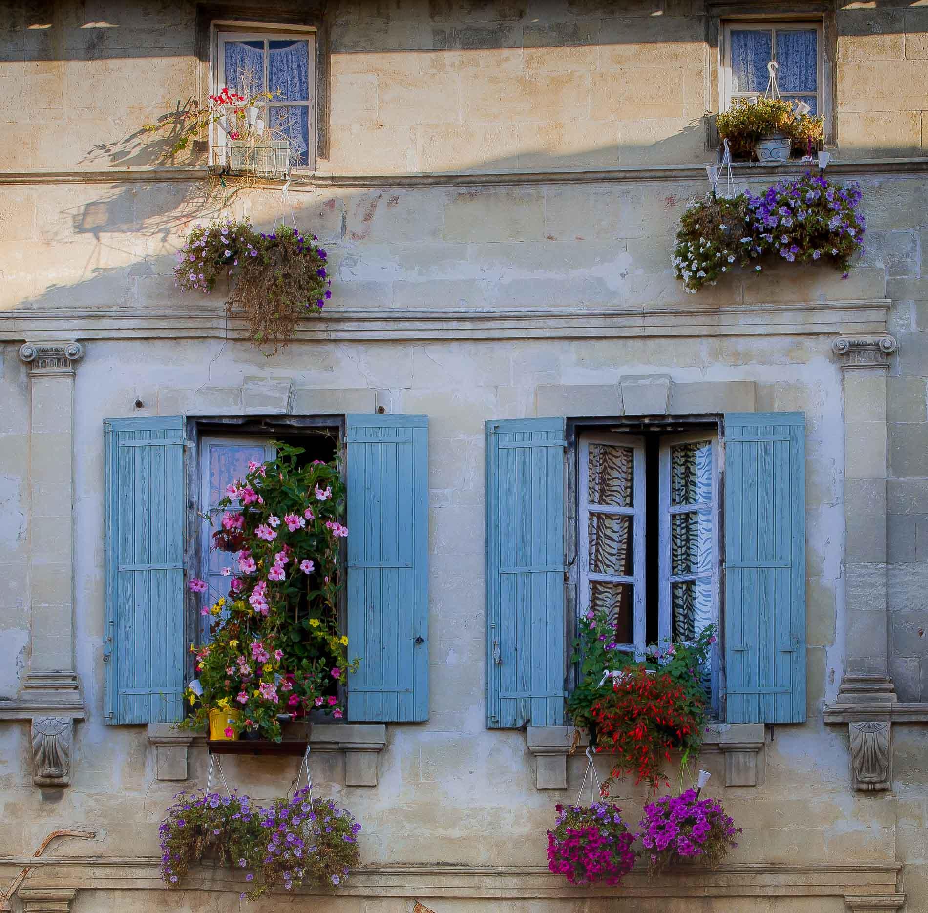 finestre fiorite ad Arles