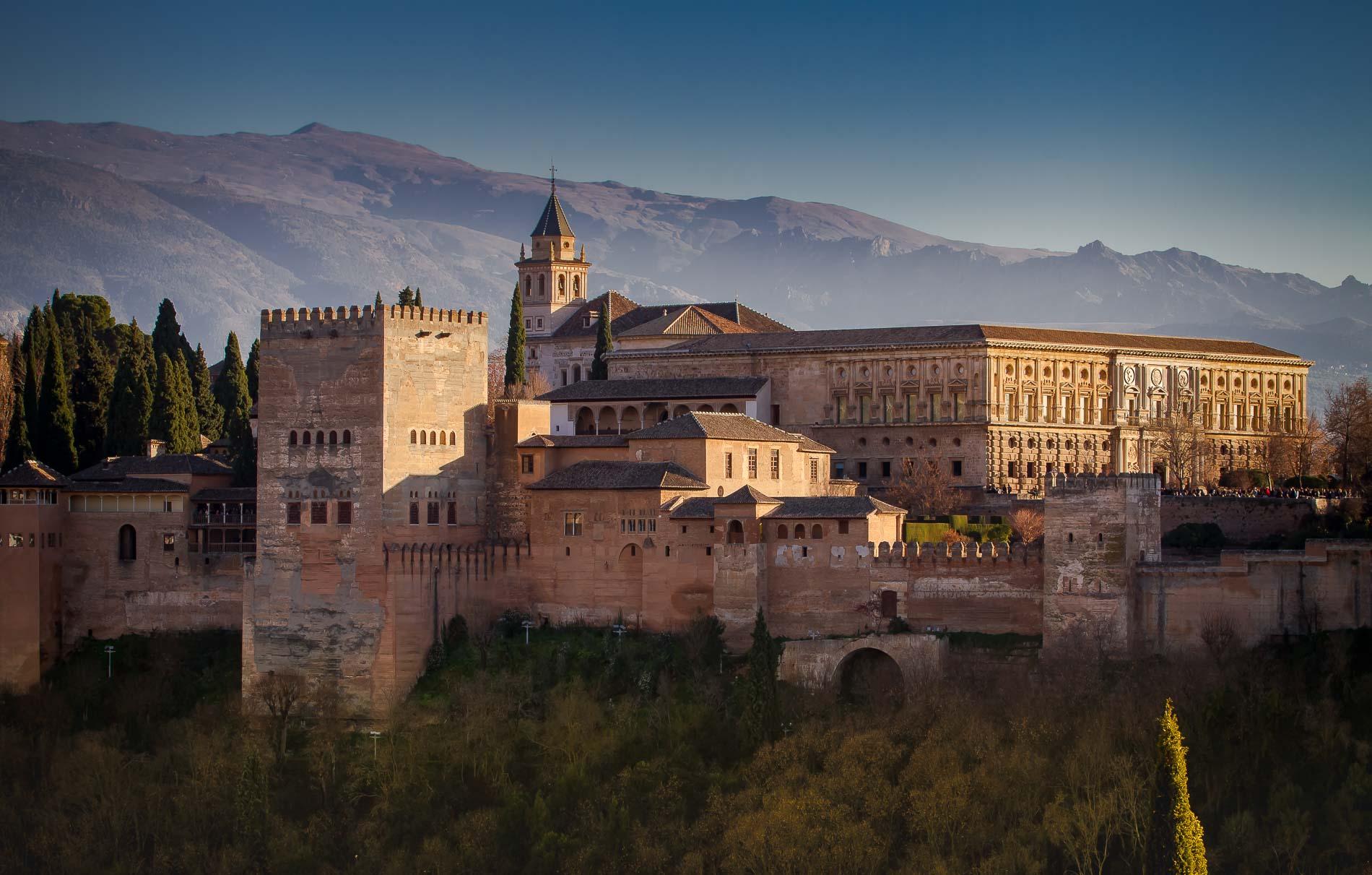 España, l'Alhambra. Veduta dal Mirador de San Nicolàs