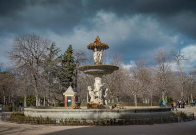 Madrid, fontana nel Parque del Retiro
