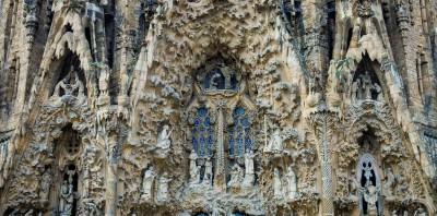 Sagrada Familia, particolare della facciata della Natività