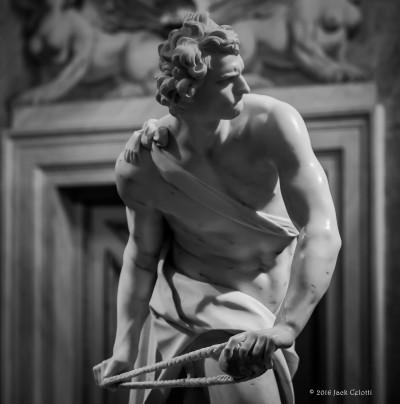 Gian Lorenzo Bernini, David. Galleria Borghese, Roma.