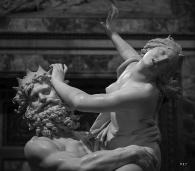 Gian Lorenzo Bernini, il Ratto di Proserpina. Galleria Borghese di Roma.