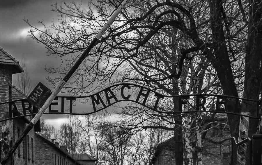 Auschwitz, ingresso